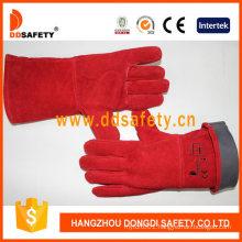 Red Cow Split Welder Safety Gloves Ce 2122