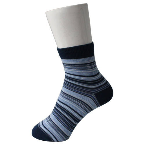 Women Strips Blue Socks