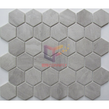 Polished Marble Pattern Tile Hexagon Mosaic (CST273)