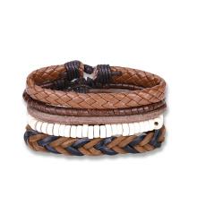 Western Punk Style Vintage Woven Bracelets Sets of Bracelets