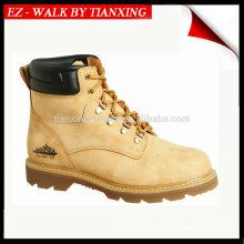 Safety shoes with genuine leather and steel toe