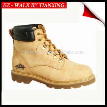 Sapatos de segurança com couro genuíno e pé de aço