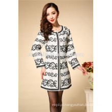 2016 Casaco feminino de manga comprida casaco feminino étnico bordado casual Casaco Vestido