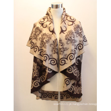 Senhora fashion rodada viscose tecido jacquard xaile capa (yky4417-2)