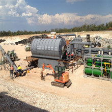 Équipement de séchage des déchets de travail continu avec pyrolyse