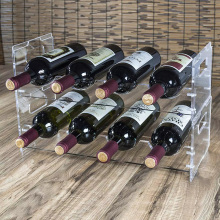 Acrylic bottle display rack wine bottle display shelf