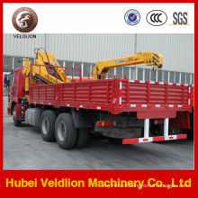 HOWO Lorry Truck with 10-12tons Lifting Crane