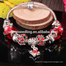 Fashion 925 silver charms lucky beads bracelet