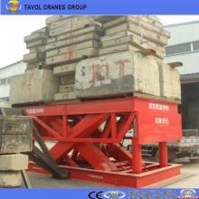Elevador de tijera hidráulico estacionario Almacén Elevador de tijera de carga