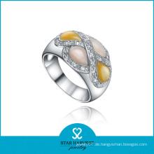Klassischer bunter silberner Sterlingsilch-Schmucksache-Ring (SH-0326R)