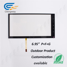 """6.95"""" 4 Wire Resistive Infrared Multi Touch Screen Frame"""