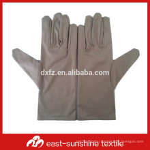 gray microfiber cloth gloves for handing and cleaning jewelry