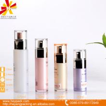 30/40/50 / 135ml botella cosmética airless de acrílico con la tapa de los PP