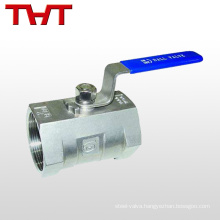 Stainless steel screw thread refrigeration ball valve