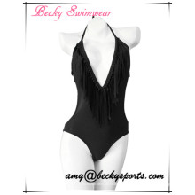 Sexy Lady′s One Piece Swimwear with V Structure