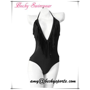 Sexy Lady′s One Piece Swimwear with V Structure