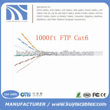 1000FT 4pairs Câble CAT 600 cable FTP