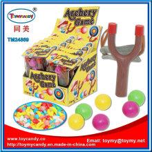 Kunststoff Holz Slingshot Bogenschießen Spiel Spielzeug mit Süßigkeiten