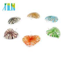 MC0016 Wholesale Price Charming Murano Heart Shape Lampwork Pendants HeartGlow Murano Lampwork Glass Pendant
