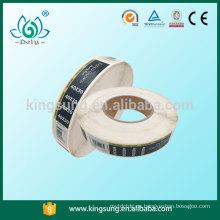 Última etiqueta de la nueva etiqueta engomada del producto del diseño que imprime la etiqueta de la ropa del OEM