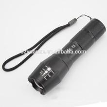 Zoomable XML-T6 Lanterna LED Torch Zoom Lâmpada Luz Black MT