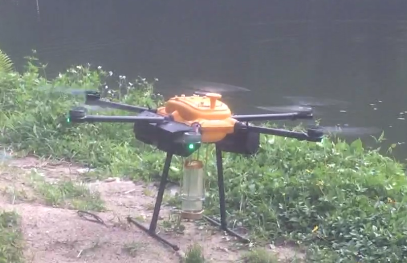 Drone With Water Bottle