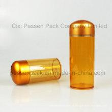 Embalagem farmacêutica plástica do âmbar Garrafa para a cápsula (PPC-PETM-016)