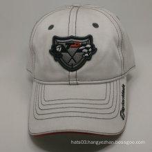 100% cotton embroidery badge white baseball cap