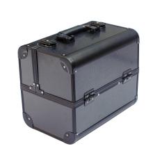 Doble caso de la puerta del caso cosmético de aluminio caso cosmético del caso de maquillaje