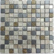 Stone Mosaic Mix Crystal Glass Mosaic Tile (HGM225)