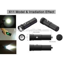 Tauchen Backup Licht XM-L U2 LED kleine Licht LED Taschenlampe Fackel