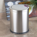 Ronda de acero inoxidable 12L Push Dust Bin (F-12LB)