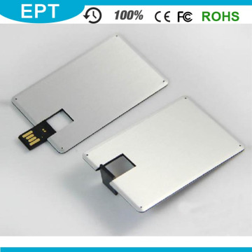 Logotipo personalizado Metal colorido tarjeta de crédito Forma USB Pendrive (EP025)