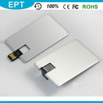 Custom Logo Colorful Metal Credit Card Shape USB Pendrive (EP025)