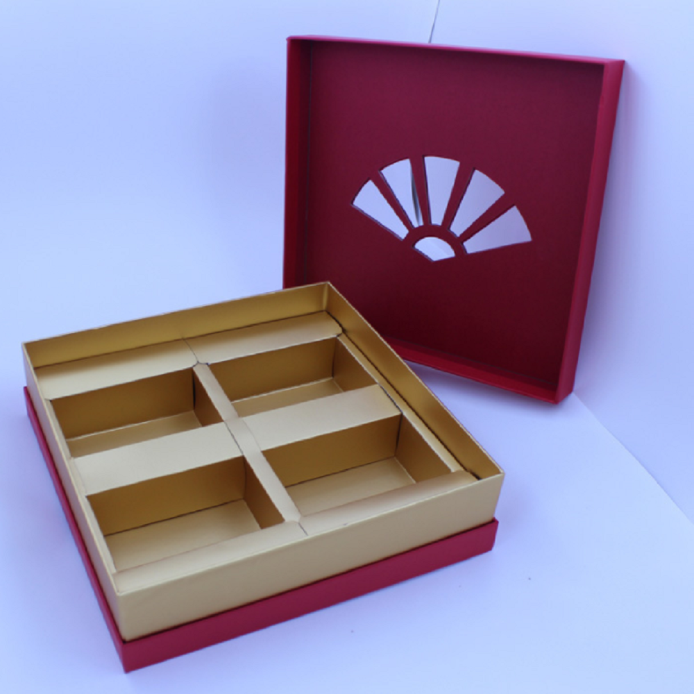 Customized Luxury Red Corrugated Cardboard Paper Gift Box-JXPACKING