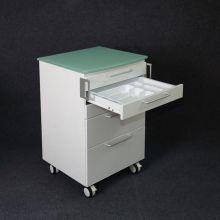 Hospital mobile cart cabinet