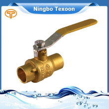 CXC fully forged solder brass ball valves with lead free (sweat*sweat)