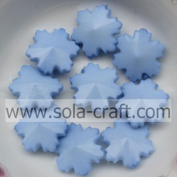 Holiday Beaded Snowflake Ornament Pearl Plastic Fantastic Irregular Light Blue 14mm In Bulk
