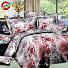 100% cotton reactive printed 3d bedding sheet set fabric