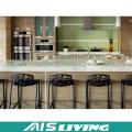 Meubles de Cabinet de cuisine de panneau de particules de forces de défense principale pour l'appartement (AIS-K434)