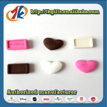 New Design Funny Heart Shape Chocolate Eraser Toy