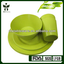 Biodegradable eco friendly bamboo fiber tableware sets