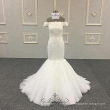 vestido de la sirena del vestido de boda marfil bling de lujo bodycon vestidos de novia de la sirena para las mujeres