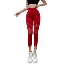 Novo estilo respirável feminino roupas de ioga calças sexy