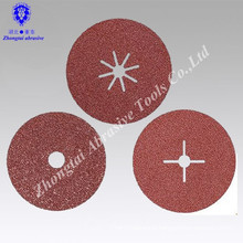 """4""""*5/8"""" P24 interflex brand abrasive fibre disc for grinding and polishing"""
