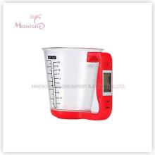 1kg Küche Elektronische Messbecher Skala (16 * 12,5 * 13,6 cm)