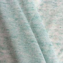 Polyester linen blended yarn melange color fabric