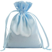 custom large satin custom logo drawstring bag for eyelashes