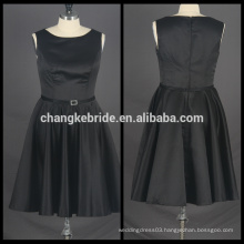 Real Pictures Of Cocktail Dress Satin Short Party Dress Sleeveless Prom Dress