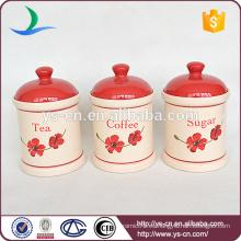 Cilindro de cerámica de 3pcs para el alimento